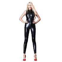 Elastic Patent Leather Jumpsuit Costume