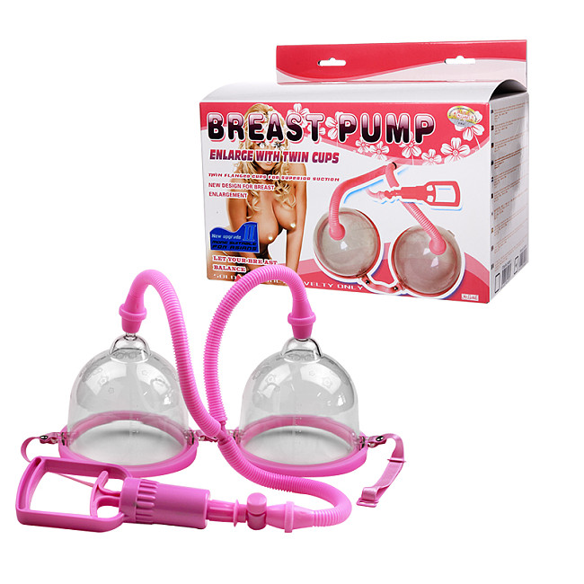 Breast Pump Enlarge With Twin Cups
