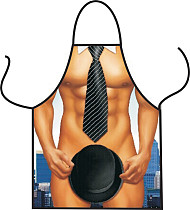 Muscular Man Apron Personality Couple Apron