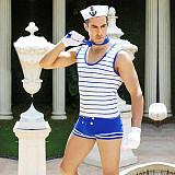 Men's Navy Blue Striped Uniform