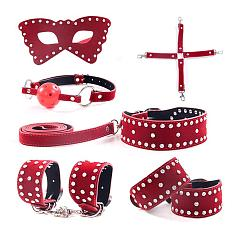Handcuffs, Ankles, Single-faced Velvet rhinestones, 6PCS/Set