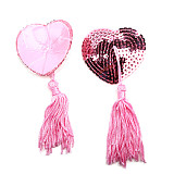 Heart-Shaped Sequins Silicone Nipple Sticker