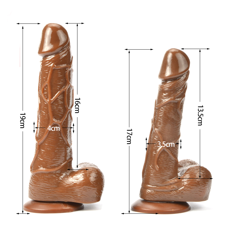 Realistic Dildo Lifelike Big Real Dong Suction Cup