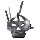 Harness Hood BDSM Slave Game Bound With Restraint Mask