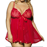 Sexy Women's Plus Size Lingerie Lace Dress Nightwear Sleepwear G-string