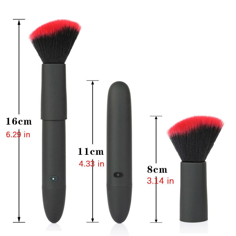 Makeup Brush Shape Vibrator Wand Massager 10 Speed Vibrator Sex Toys