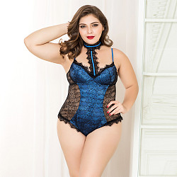 Large size lady sexy pajamas perspective sexy one-piece pajamas