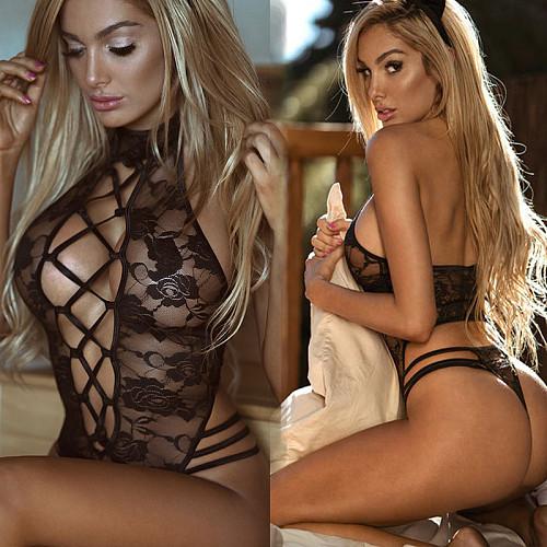 Ladies sexy sling rose nightdress erotic lingerie