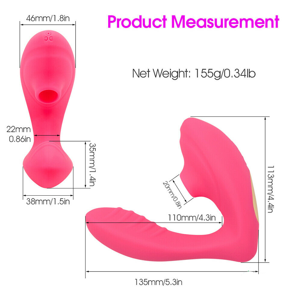 10 Speed Silicone  Sucking Vibrator Clitoris Stimulator