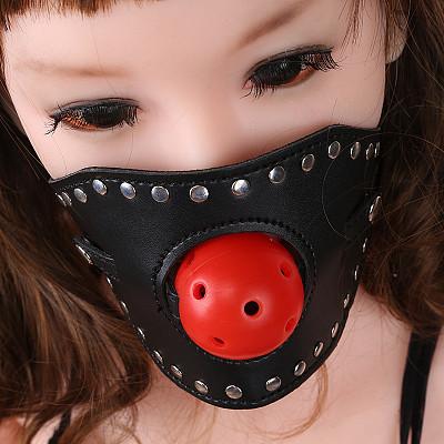 Silicone Ball Gag  PU Leather Erotic Adjustable Bondage