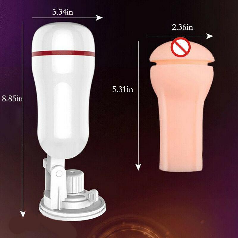 Male Masturbator Pussy Stroker Vagina Strong Suction Cup Fleshlight Sex Toys