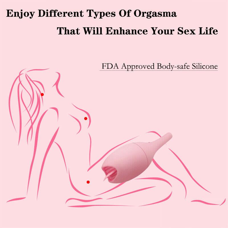 10 Speed Vibrating Love Egg Tongue Vibrator Dildo Clitoral Stimulator Sex Toy