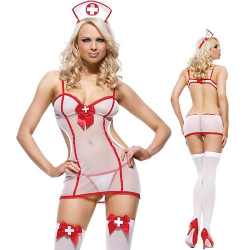 Sexy nurse uniform temptation mesh lady sexy suit