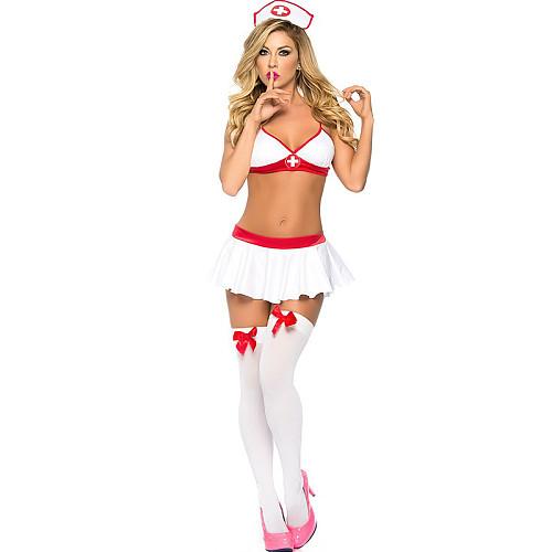 White angel female nurse technician costume