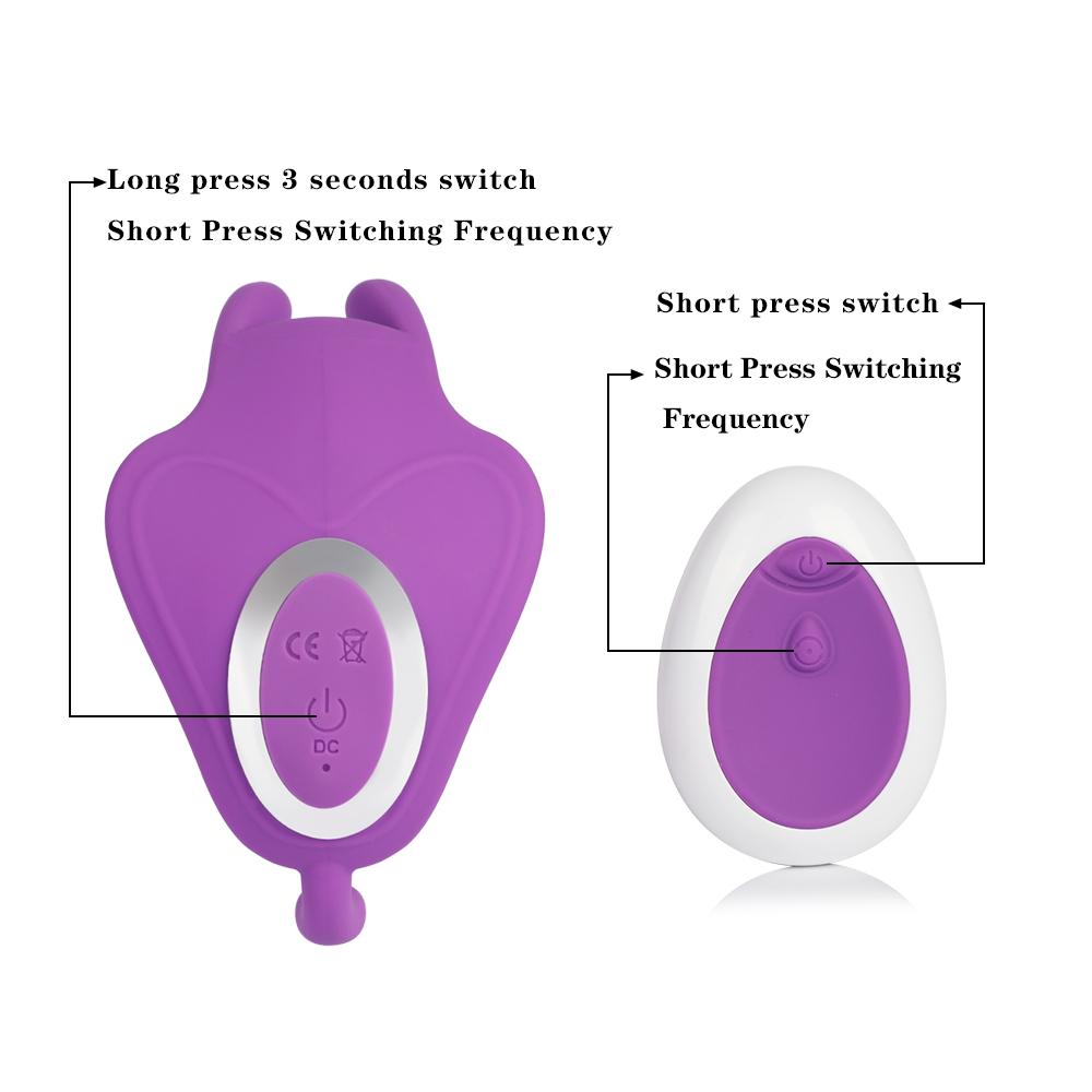 10 Speed Vibrating Wearable Rabbit Dildo Vibrator G-Spot Massager 4