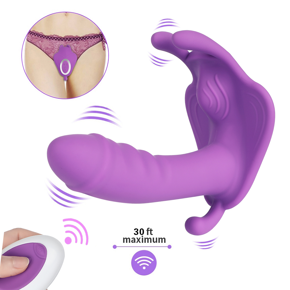 10 Speed Vibrating Wearable Rabbit Dildo Vibrator G-Spot Massager 7