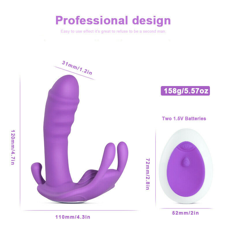 10 Speed Vibrating Wearable Rabbit Dildo Vibrator G-Spot Massager 3