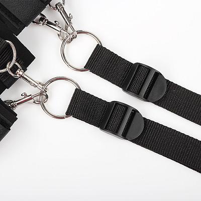 Cosplay Fetish Bed Restraint Bondage Kit Hands Ankle Cuffs
