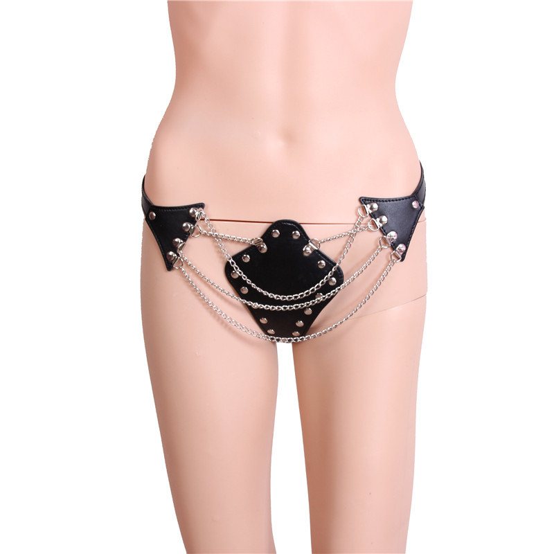 Hollowed-out Chain Panties Thong T Pants