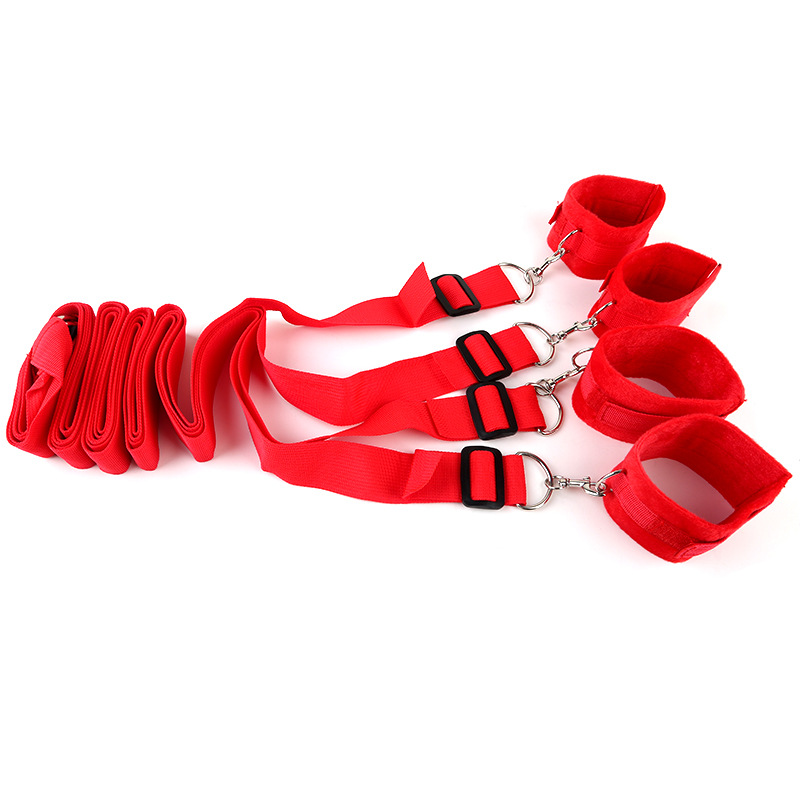 Bed Bandage Game Adult Restraint BDSM Kit red