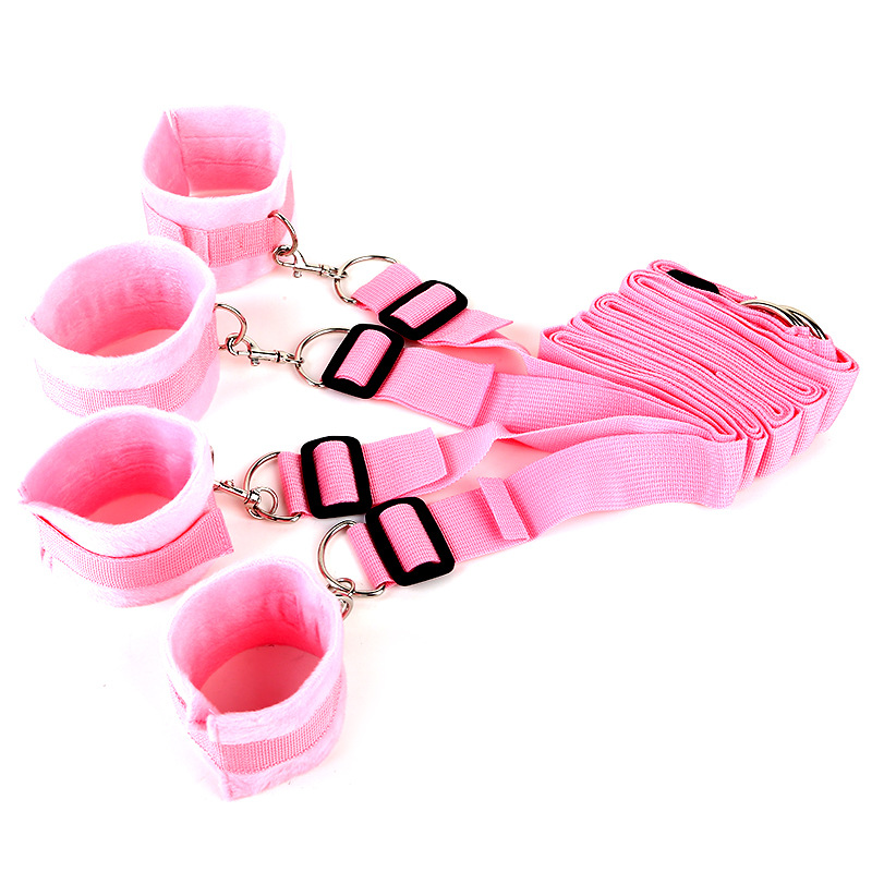 Bed Bandage Game Adult Restraint BDSM Kit pink
