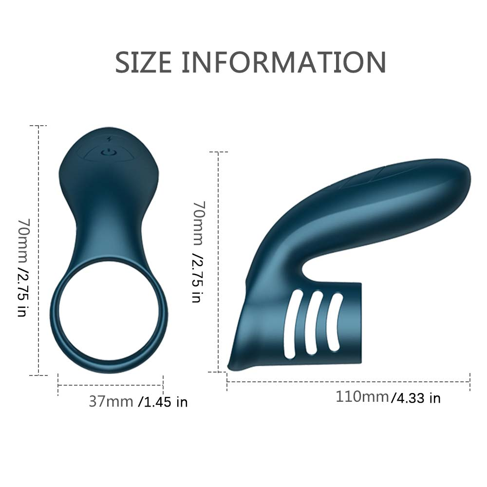 Vibrating Cock Ring USB Rechargeable Penis Ring