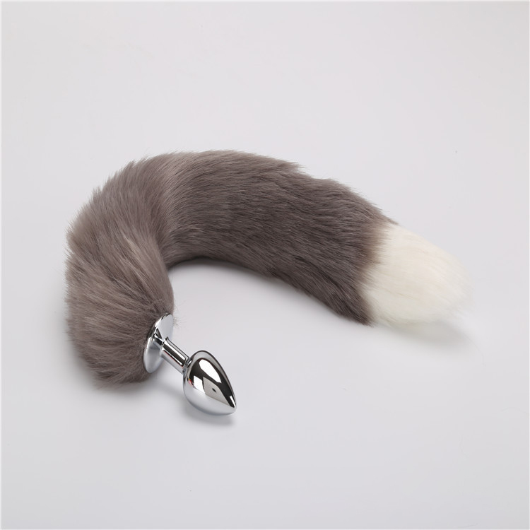 False Fox Tail  Metal Anal-Butt Plug