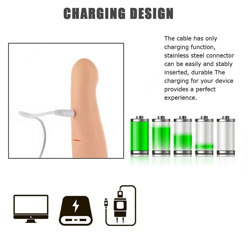 Extension Penis Sleeve Condom Extender Charging Design