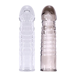 Men Extension Penis Sleeve Condom Extender Enhancing Delay