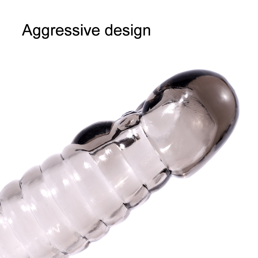 Men Extension Penis Sleeve Condom Extender Aggressive design