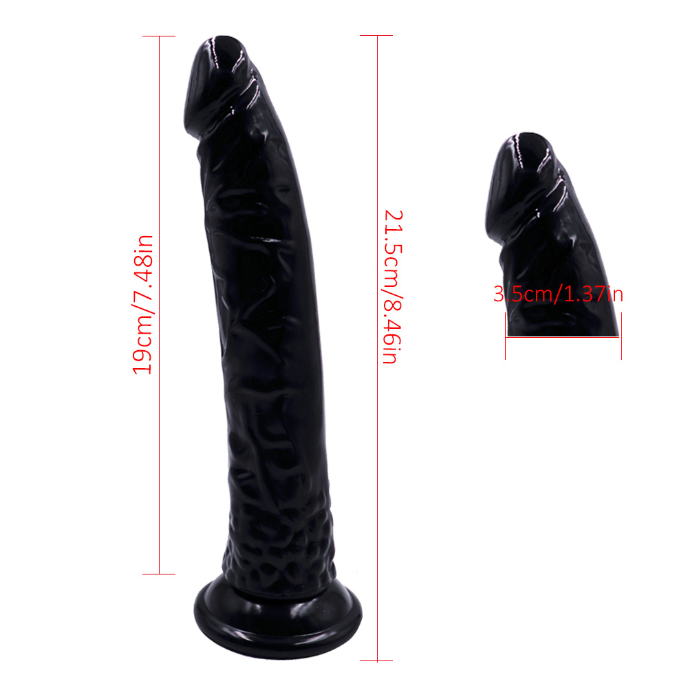 Big 8 Inch Realistic Suction Cup Dildo Large Rubber Silicone Adult Sex Toys