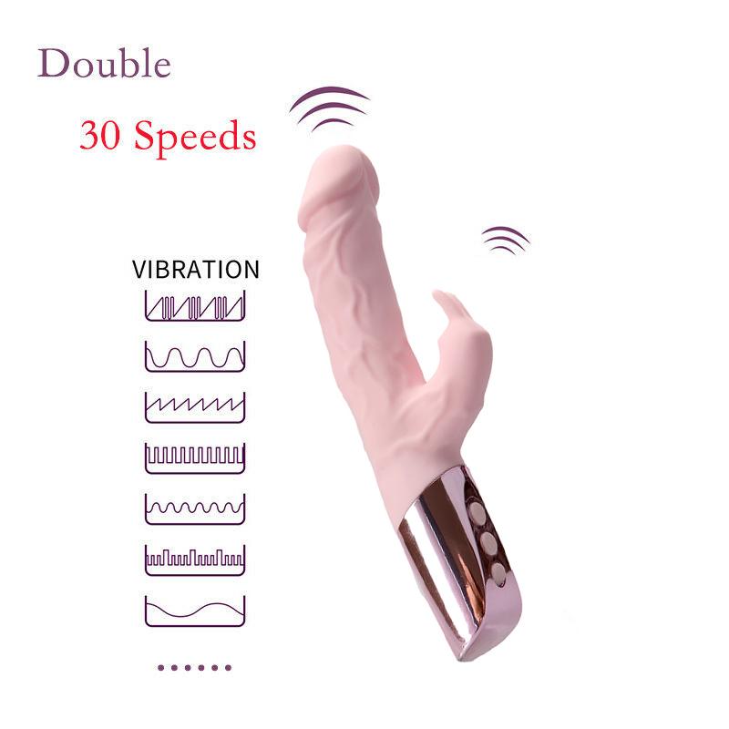 Rampant Rabbit Vibrator 7 Speed Vibrating Dildo