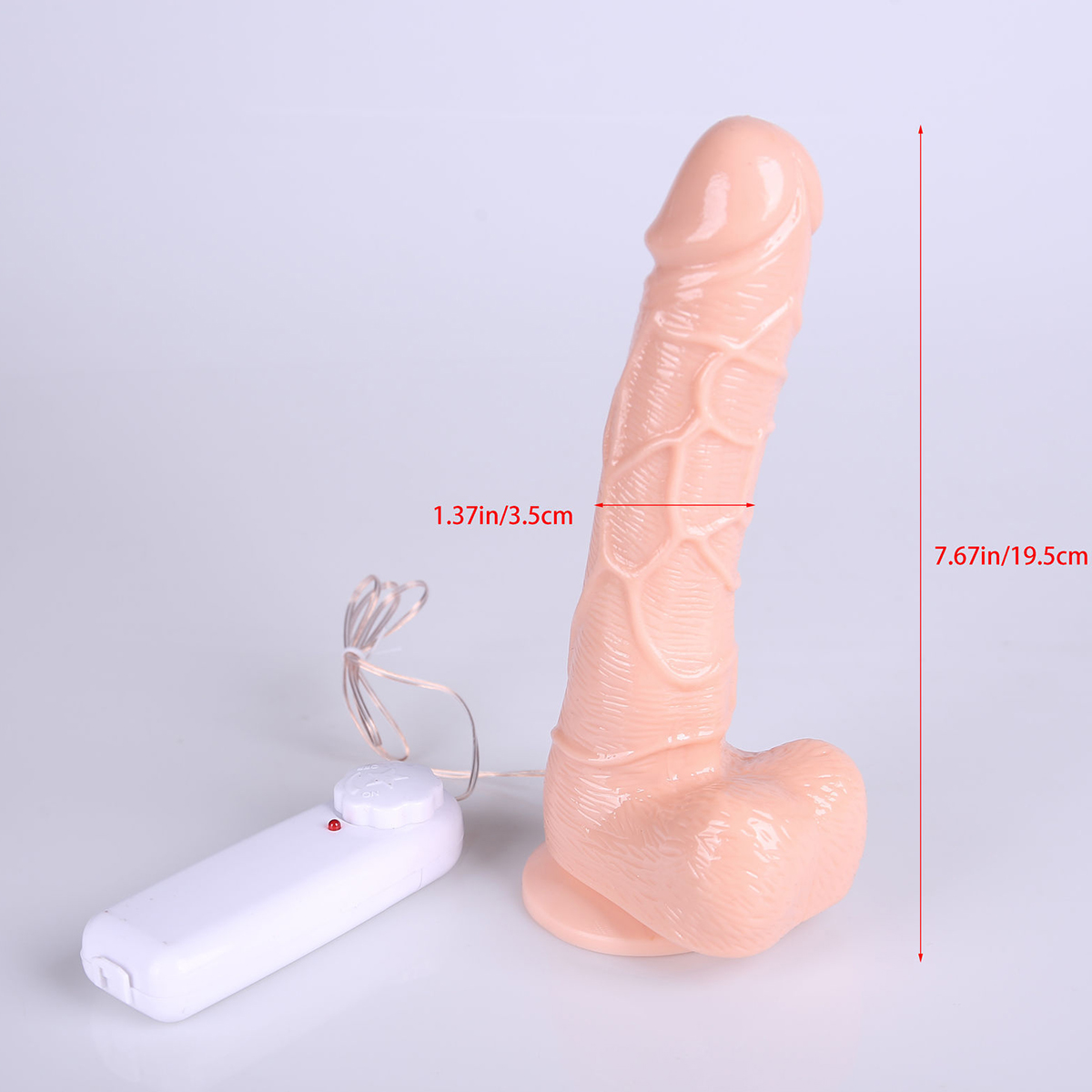 Big Penis Vibrator Flexible Realistic Suction Cup Dildo