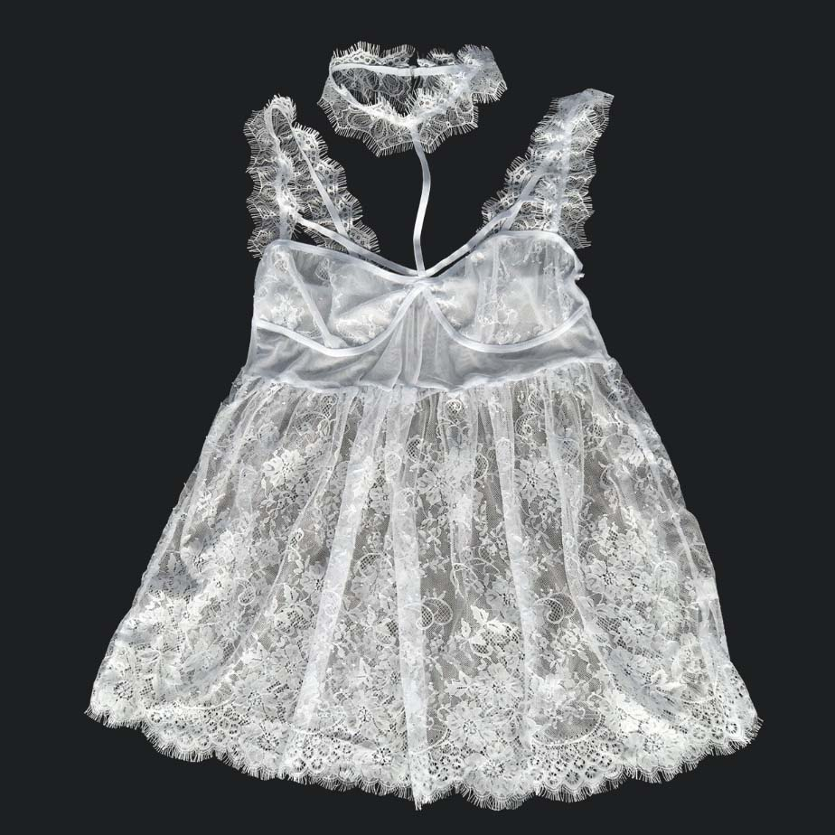Sexy suit lace see-through sexy nightdress