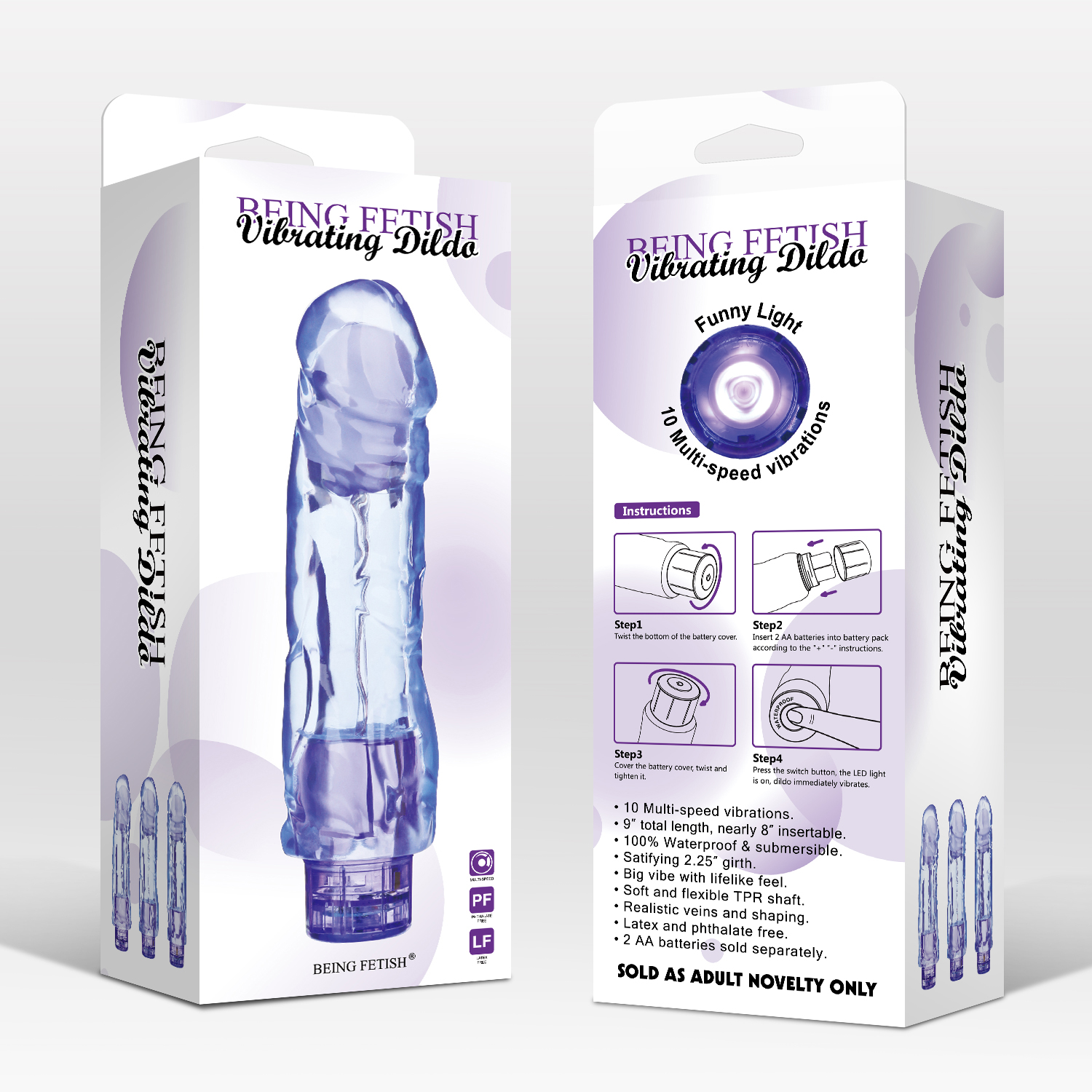10 Speeds Large Vibrating Dildo