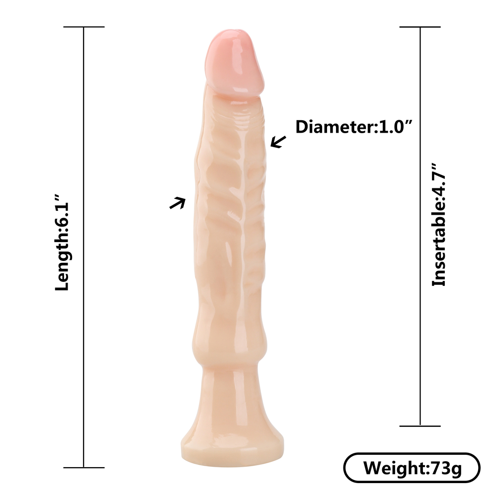 6 Inches Includes Flared Base For Safety Anal Plug