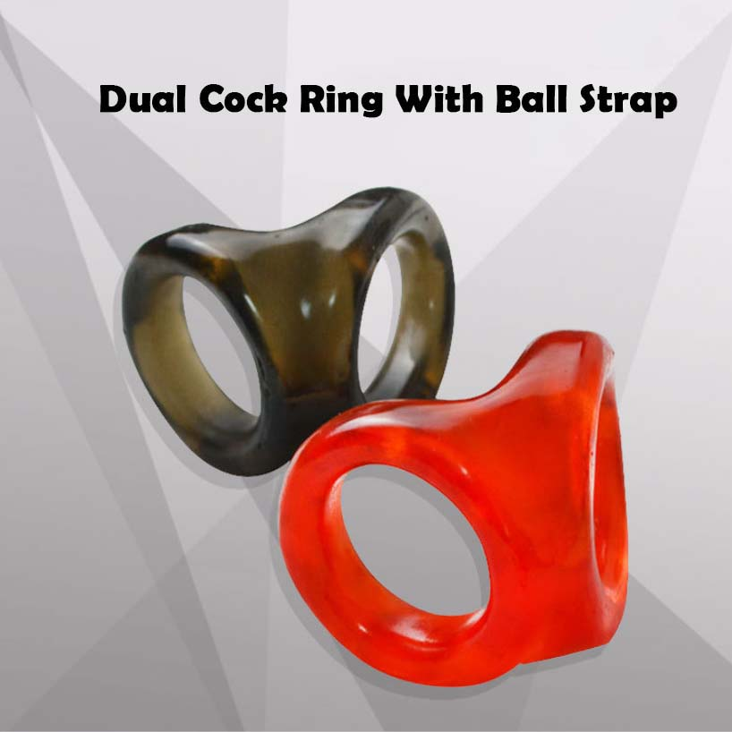 Penis Ring Delay Ejaculation Sex Toys for Men Dual Cock Rings