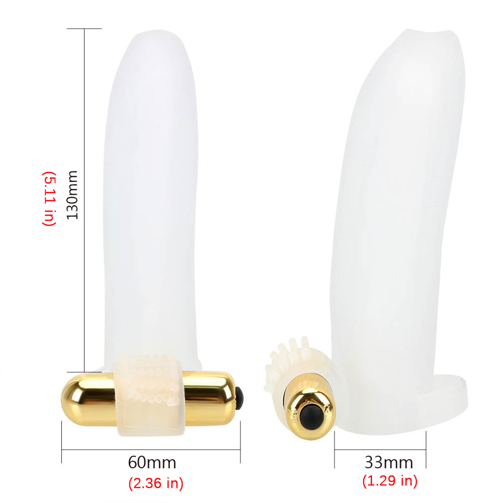 Vibrating Penis Sleeve Penis Extension Enlarger Cock Ring Vibrator Sex Toys
