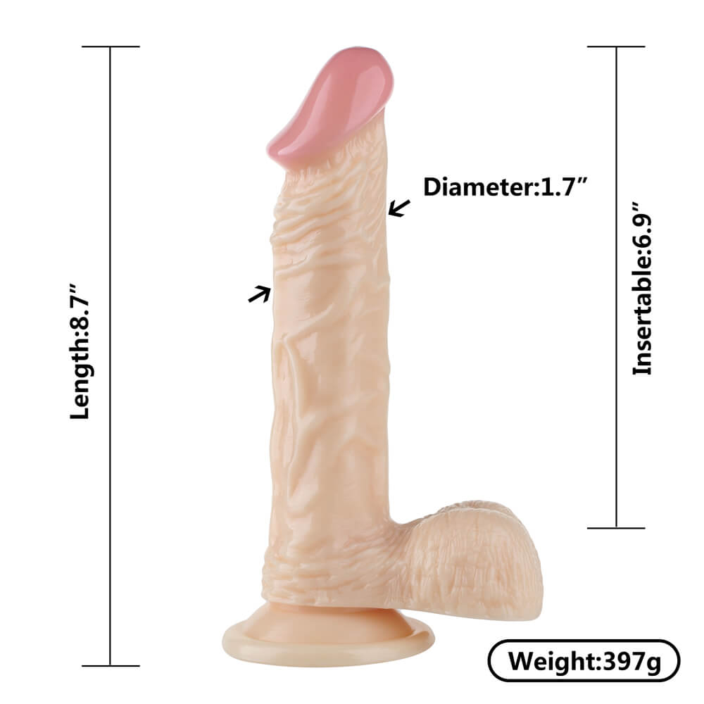 Wholesale Long Skin Feeling Flexible Dildo