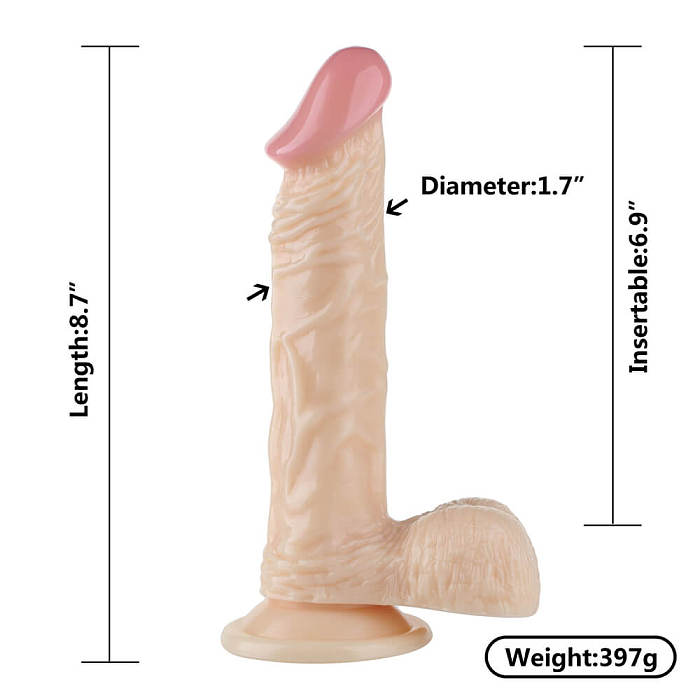 Long Skin Feeling Flexible Dildo