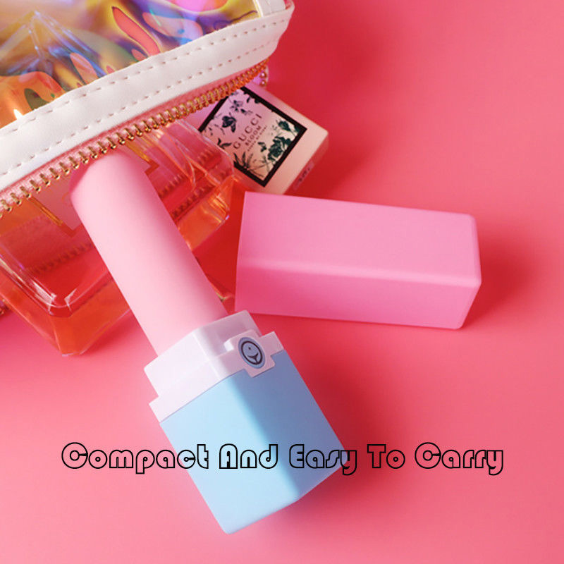 Wholesale 10 Speed Vibrating Mini Lipstick Vibrator; Powered by USB Charging;
