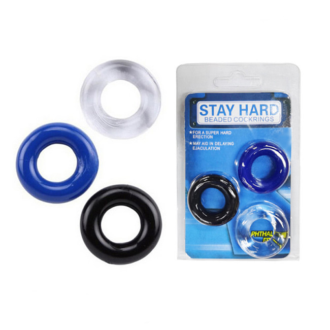 3 PCS Penis Cock Rings Silicone Delay Ejaculation Sex Aid