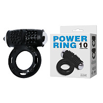 10 Speed Vibrating Cock Ring In Black