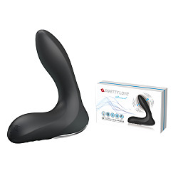 12-Function Vibrations Inflatable USB Rechargeable Anal Vibrator