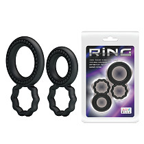 Silicone Cock Ring In Black Men's Sex Toy