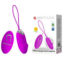 USB Rechargeable Silicone 12 Speed Vibrating Eggs