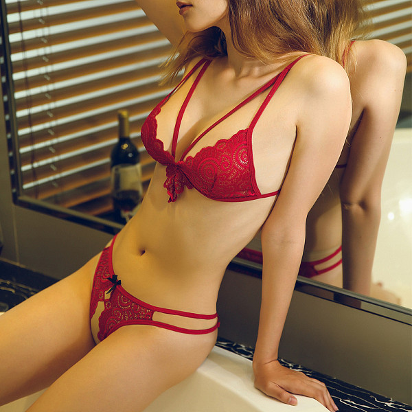 Red Lace Sexy Underwear