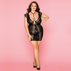 Black lady sexy pajamas perspective sexy adult large size lingerie