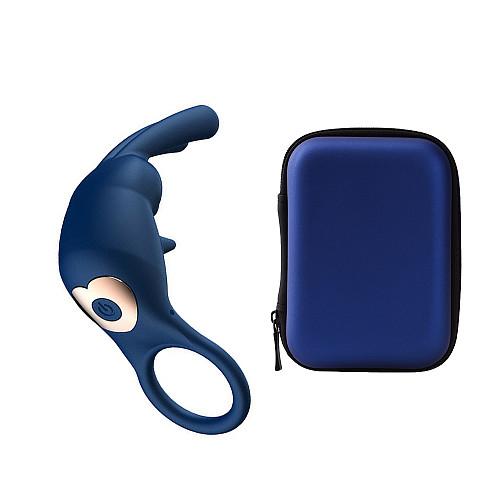 USB Vibrating Rabbit Penis Ring Last Longer Vibrator Silicone Sex Toys
