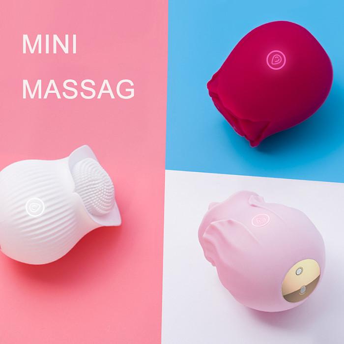 MINI Rose Vibrator Clitoral Suction & Stimulation